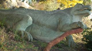 The fossil is from a dinosaur similar to the Iguanodon, a large plant-eater from 130 million years ago