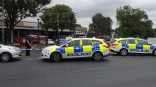 Police cars at Norwich