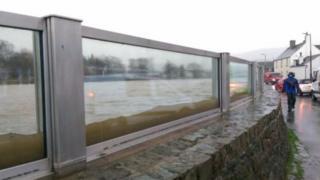 Keswick flood protection glass panels