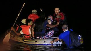 Migrants arriving in Turkey