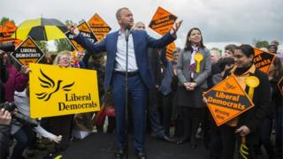 Tim Farron, Liberal Democrat leader, campaigning in south London