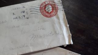 The envelope and letter found by Amanda Kehler