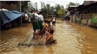 လှိုင်းဘွဲ့မှာလည်း ရေကြီးနေ