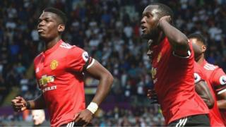 Paul Pogba (left) and Eric Bailly both scored for Manchester United