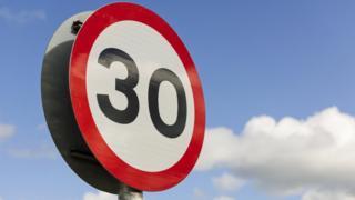 30mph limit sign