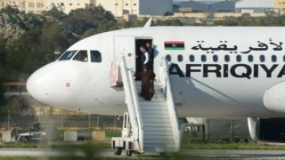 Pesawat Libya yang dibajak