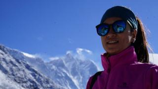 Photo journalist Purnima Shrestha at Everest base camp this season
