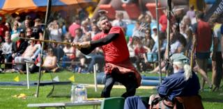 Hammer throwing at the Alva Highland Games