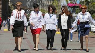 Жінки на Хрещатику