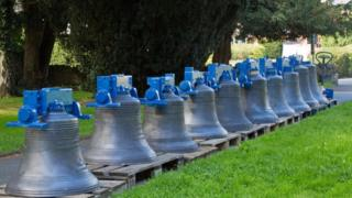 The ten upgraded bells