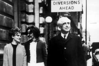 Professor Gregory Pincus, inventor of the contraceptive pill seen on the streets of London in 1966