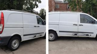 The van used in the abduction