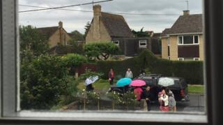 Turistas en Kidlington