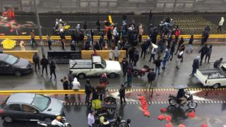 Protest against fuel price rises, Tehran