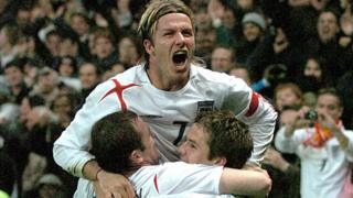 David-Beckham-celebrates-beating-Argentina-in-a-friendly