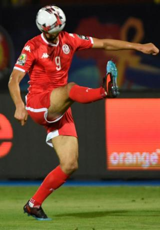 Tunisia's forward Anice Badri controls the ball during the 2019 Africa Cup of Nations third place play-off against Nigeria in Cairo on 17 July 2019.