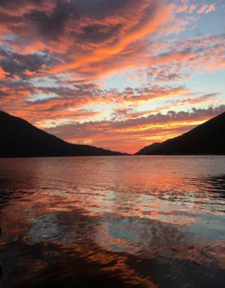 sunrise on Loch Lochy