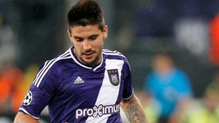 Aleksandar Mitrovic plays for Anderlecht 2015
