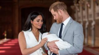in_pictures The Duke and Duchess of Sussex with their baby son Archie in May 2019