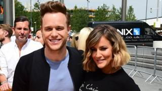 Olly Murs and Caroline Flack at the London auditions