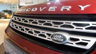 Land Rover Discovery in showroom