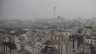 File photo showing skyline of Tehran, Iran (1 April 2019)