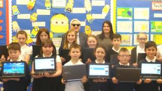 Pupils at Kilbowie Primary School