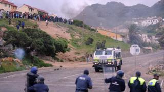 Une scène de violence à Hout Bay près du Cap en septembre 2010 (illustration)