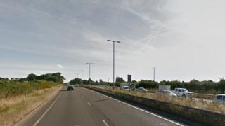 A46 scene of crash