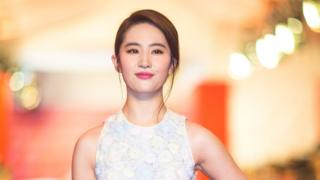 Actress Liu Yifei arrives for the red carpet of the 19th Shanghai International Film Festival at Shanghai Grand Theatre on 11 June 2016 in Shanghai, China.