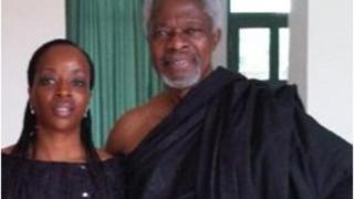Kofi Annan ati ọmọ rẹ Ama nigba to fẹ ọmọ Naijria