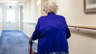 A woman in a care home - generic