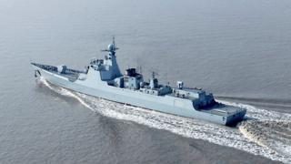 中國海軍第二艘先進的052D型導彈驅逐艦