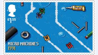 Micro Machines stamp