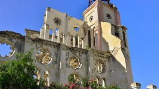 Cathedral ruins in Port-au-Prince