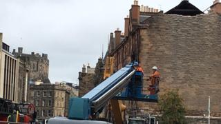 Partial demolition work starts at tenement hit by explosion