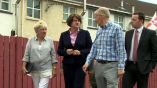 Arlene Foster meeting residents
