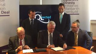 The deal was signed at semiconductor firm IQE