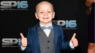 Bradley Lowery at BBC Sports Personality of the Year 2016