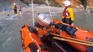 Newquay rescue of pregnant woman, 17 June