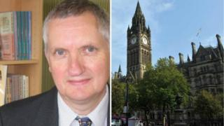 Mayoral candidate Peter Clifford and Manchester Town Hall