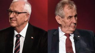 Иржи Драгош, Милош Земан - кандидаты в президенты Чехии