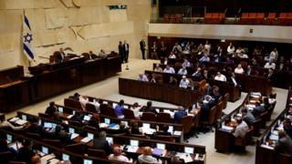 Israeli parliament in session on 11 July 2016
