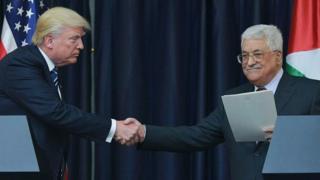 Bwana Trump avuga ko agiye gukorana na Israeli hamwe na Palestina ngo afashe gutsimbataza amahoro