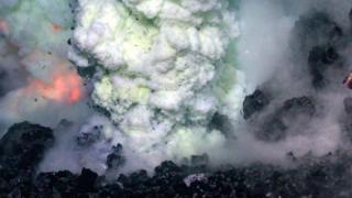 Un volcán en el fondo del mar.