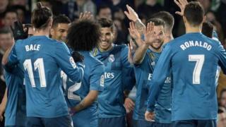 Wachezaji wa klabu ya Real Madrid