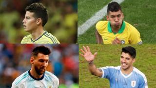 James Rodriguez, Firminho, Messi, Suarez