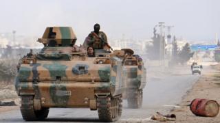 قوات المعارضة التي تساندها تركيا