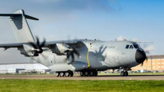 An A400M aircraft