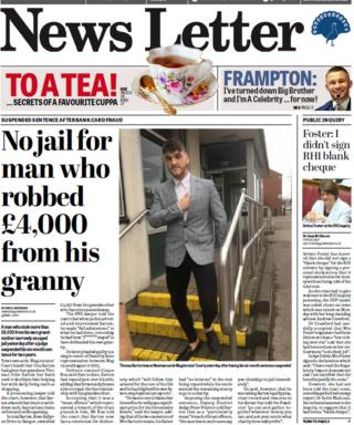 News Letter front page 19/04/18